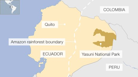 Ecuador explotará Yasuní, en la Amazonia