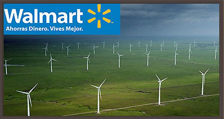 En los próximos seis meses, Walmart de México y Centroamérica recibirá energía proveniente de dos plantas de energía eólica y una mini hidroeléctrica que producirán un total de 252 MWh para alimentar 886 unidades de negocio. Estos tres proyectos, sumados al parque Eólico Oaxaca I Lamatalaventosa que opera desde 2010, permitirán obtener, para principios de 2014, un total de 320 MWh de energía renovable para satisfacer las necesidades de 1,233 tiendas de autoservicio, ropa y clubes de precio de Walmart de México y Centroamérica. Estas iniciativas representan una reducción anual de más de 200 mil toneladas de CO2 al ambiente, equivalentes a sacar de circulación 36,625 autos. La compañía tiene como objetivo para el año 2020, obtener 3,000 GWh de energía renovable, lo que equivale al consumo de energía de Yucatán durante 2011. Por otro lado, los nuevos prototipos 2013 son 34% más eficientes que en 2005, con la actualización de tecnologías como: instalación de lámparas LED en estacionamientos e interiores, mejoramiento del sistema de administración de energía, equipos de refrigeración e instalación de puertas en refrigeración abierta y aire acondicionado de menor consumo eléctrico. En este sentido, Walmart de México y Centroamérica tiene como objetivo para 2020, reducir un 20% la intensidad kWh/ m2 que tenía en 2010.