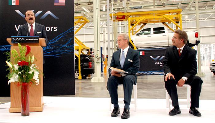 Vía Motors inaugura fábrica de coches eléctricos en México