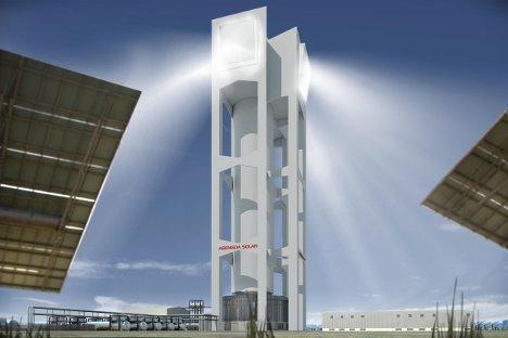 Abengoa opera una termosolar de torre durante 24 horas ininterrumpidas