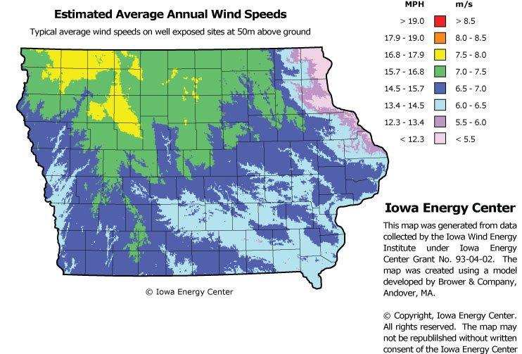 Alliant Energy ahora produce 1.300 megavatios de energía eólica en Iowa