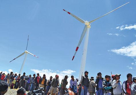 Bolivia implantará 160 MW de energías renovables: eólica, geotérmica y energía solar