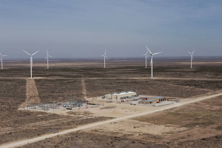 Texas wind energy wind farm wind power wind turbines