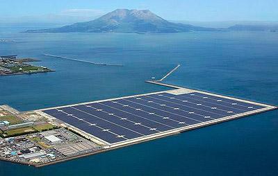 Energías renovables: Central de energía solar fotovoltaica de General Electric (GE) en Japón