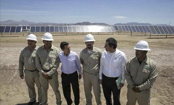 Eólica y energías renovables: Peña Nieto inaugura central de energía solar fotovoltaica en Baja California