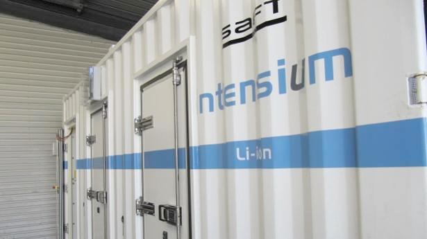 Almacenamiento de renovables con baterías de Saft