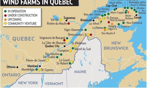 Eólica y energías renovables: Quebec crea grupo de trabajo, por José Santamarta