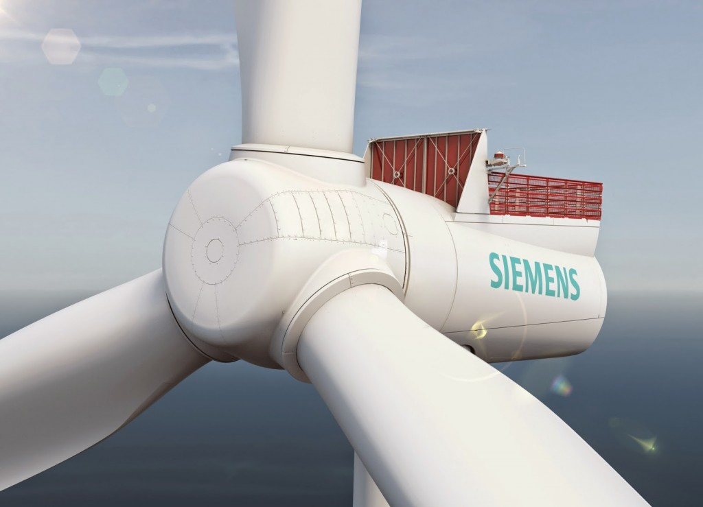 Siemens suministrará 67 aerogeneradores de 6 MW a la eólica marina.