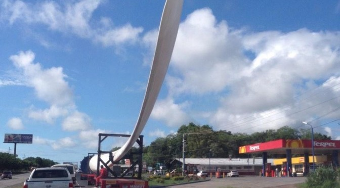 Eólica en Panamá: Aerogeneradores para el parque eólico Penonomé
