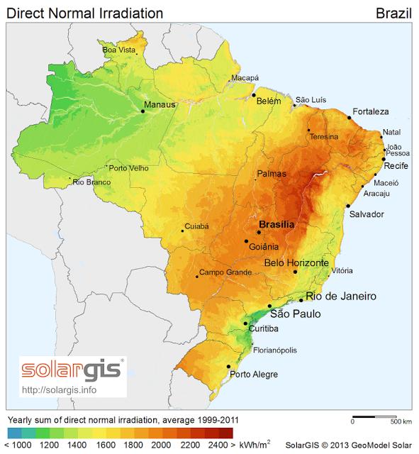 Brasil licita 500 megavatios de energía solar