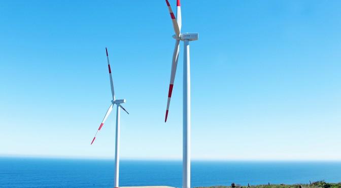 Eólica en Chile: Parque eólico Punta Palmeras con aerogeneradores de Acciona.