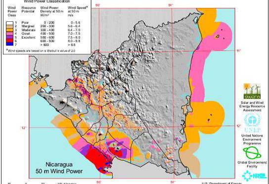 Nicaragua generó con energías renovables, eólica, geotérmica e hidráulica, el 83% de su electricidad