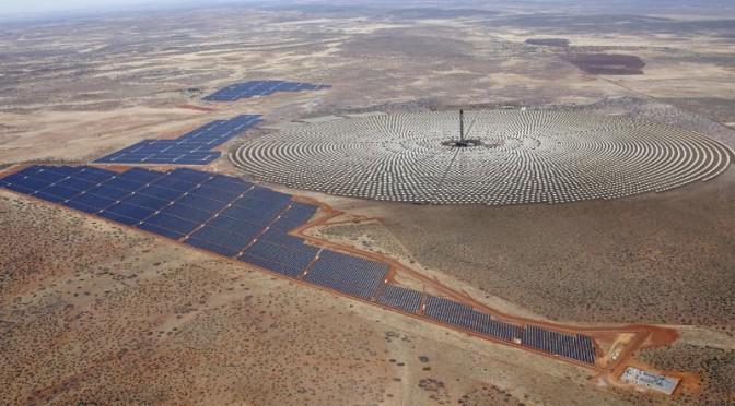 Proyecto de SolarReserve con 800 MW de energía solar en Chile, termosolar y fotovoltaica