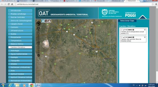 Mapa de Energías Renovables en San Luis, Argentina