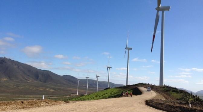 Eólica y energías renovables en Chile: parque eólico Los Olmos con 39 aerogeneradores en Bío Bío