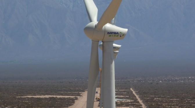 Eólica en Argentina: parque eólico sustituye a Impsa por empresa Hydrochina