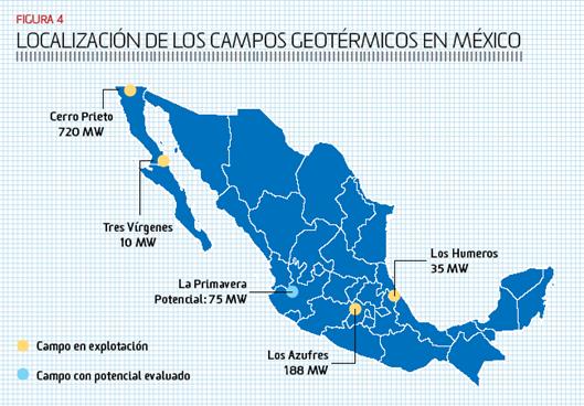 México entre los seis primeros productores de energía geotérmica