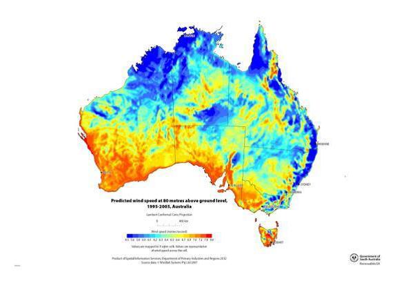 australia wind map