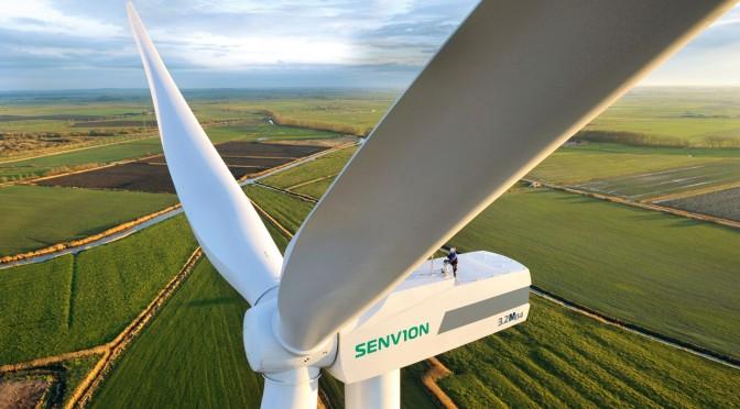 Aerogeneradores de Senvion instalados en el parque eólico Mynydd Y Gwair en Gales del Sur