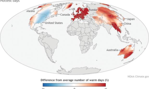 Cambio climático: El mes pasado fue el junio más cálido tanto en tierra como en los océanos