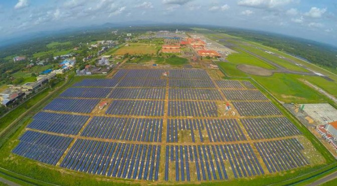 India instala aeropuerto que funciona totalmente con energía solar