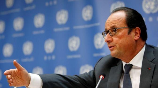 Hollande llama a un acuerdo para frenar el cambio climático
