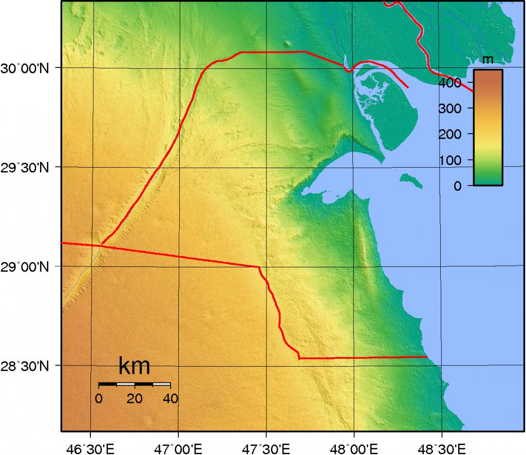 Kuwait_Topography