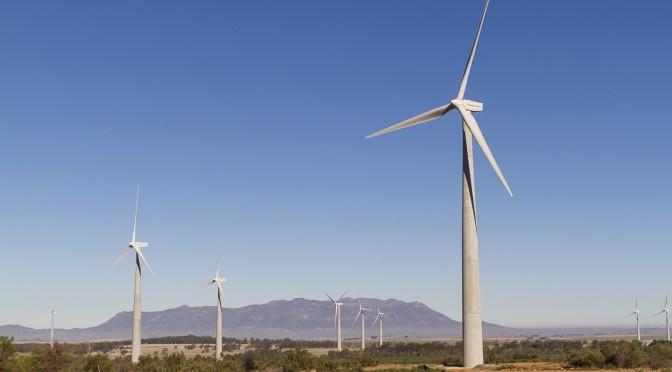 Energía eólica de Sudáfrica necesita 5.000 aerogeneradores