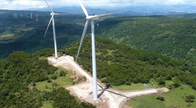 Construyen parque de energía eólica en el sur de Honduras