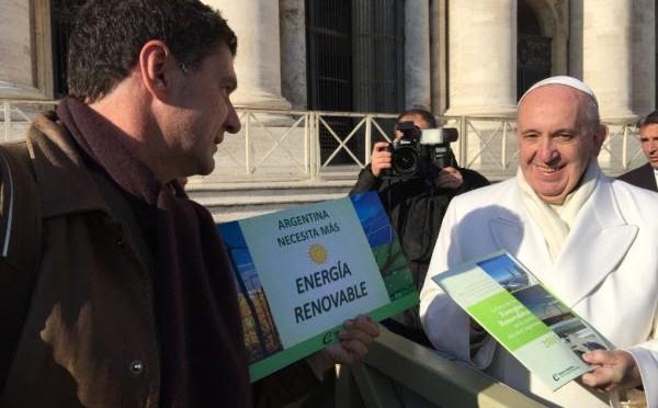 El Papa Francisco solicitó más energías renovables en Argentina