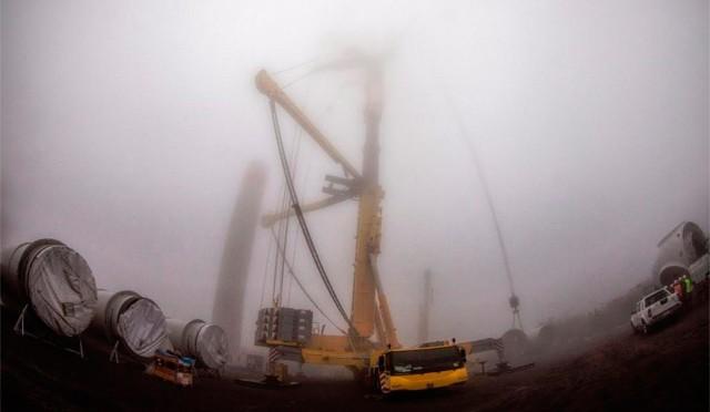 Construcción de Parque Eólico Tres Mesas continúa
