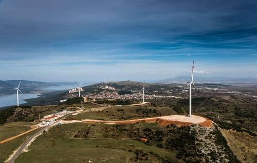 Wind power in Turkey Nordex wind turbines for a wind farm 1