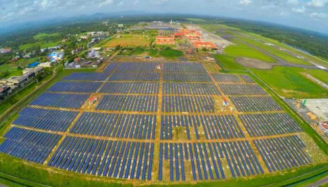 Crean primer aeropuerto con energía solar en India