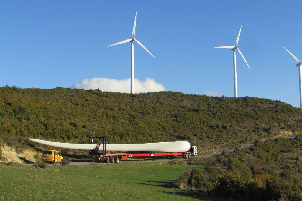 G132-5.0 MW transporte de la pala a Alaiz