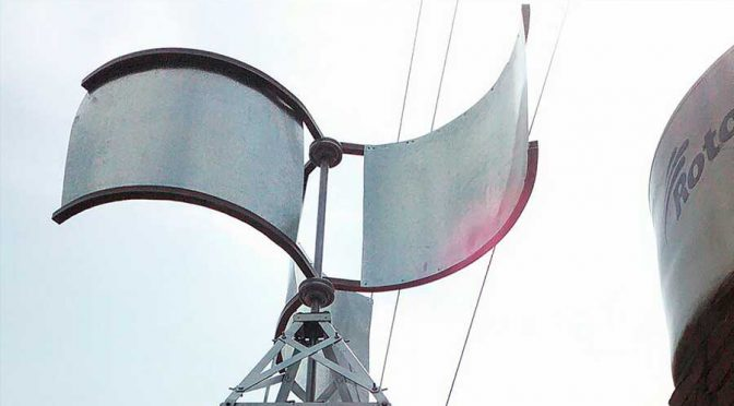 Servilectric, el aerogenerador eólico para uso doméstico creado por estudiante