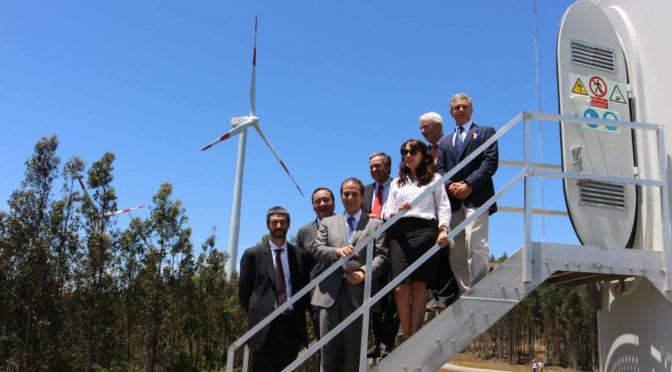 Alcalde Alarcon participa de inauguración de Parque Eolico Las Peñas