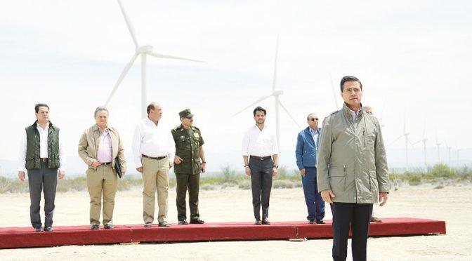 Inaugura Enrique Peña Nieto Parque Eólica en Coahuila