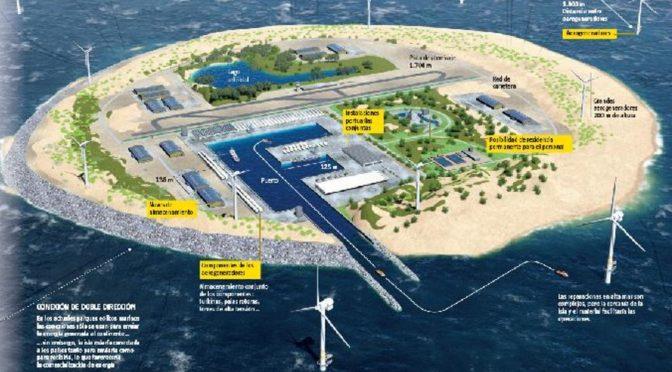 Un enclave artificial en el mar del Norte catapultará la energía eólica marina