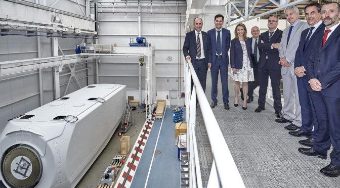 Ayerdi visita las instalaciones de Nordex Acciona Windpower