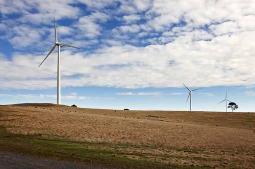 Energía eólica en Australia, parque eólico Warradarge al norte de Perth