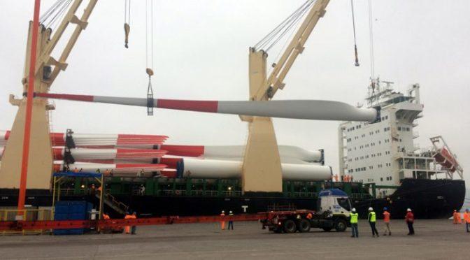 Eólica en Chile: Desde China llegaron las primeras 8 turbinas eólicas de proyecto Punta Sierra