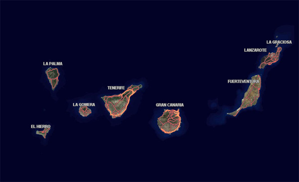 Grafcan actualiza el servicio de parques eólicos de Canarias en su visor web