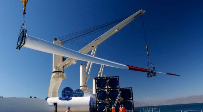 Eólica en Chile: Descargan 10 nuevos aerogeneradores para parque eólico de Pacific Hydro