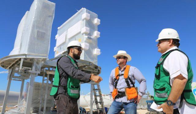 Ya se levantaron 14 torres de generación eólica en Parque Eólico de Dzilam