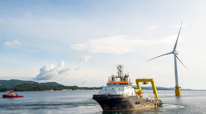 La energía eólica marina en Europa creció un 25% en 2017