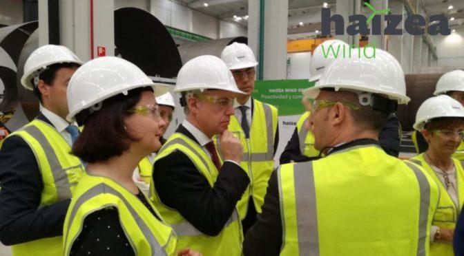Haizea Wind inaugura, en el Puerto de Bilbao, una de las mayores plantas de fabricación de torres eólicas y estructuras eólicas marinas ('offshore') de Europa