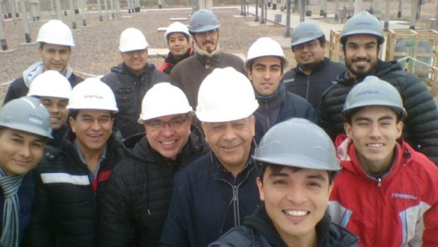 Alumnos y docentes visitaron el Parque Eólico Arauco