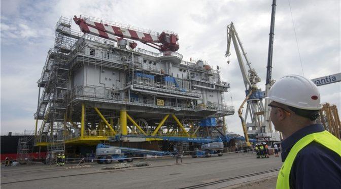 Navantia entrega a Iberdrola la subestación Andalucía II, destinada al parque eólico marino East Anglia One