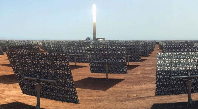 La termosolar de 150 MW con tecnología de torre central con almacenamiento Noor Ourzazate III logra su primera sincronización a la red