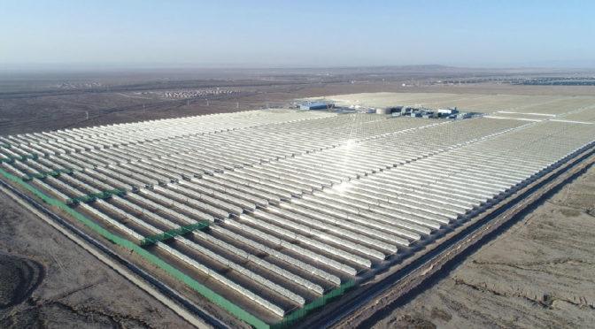 Entra en funcionamiento la primera gran termosolar comercial de China